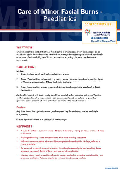 poster9-care-of-minor-facial-burns-paediatric